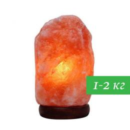 Соляная лампа Скала 1-2 кг из гималайской соли красного оттенка
