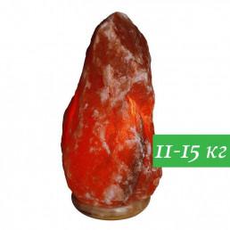 Соляная лампа Скала 11-15 кг из гималайской соли красного оттенка
