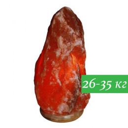 Соляная лампа Скала 26-35 кг из гималайской соли красного оттенка