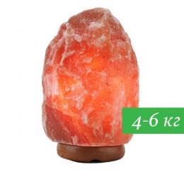 Соляная лампа Скала 4-6 кг из гималайской соли красного оттенка