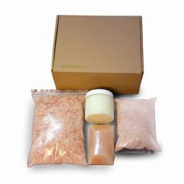 Набор Beauty box с гималайской солью для ванн, кокосовым маслом, соляным мылом