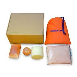 Набор Beauty box MAX с гималайской солью для ванн, кокосовым маслом, соляной грелкой, массажным шаром, соляным мылом