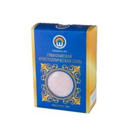 Пищевая гималайская розовая соль, мелкий помол 0,5-1 мм, 500 г, в цветной коробке
