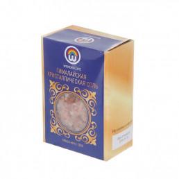 Пищевая гималайская розовая соль, средний помол 2-5 мм, 500 г, в цветной коробке