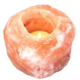 Подсвечник соляной Уникальный 500-700 г из гималайской соли