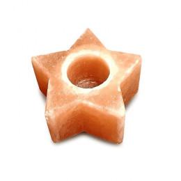 Подсвечник соляной Звезда 700 г из гималайской соли
