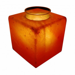 Соляная лампа Кубус - Арома 1,5-2 кг из гималайской соли с тарелочкой для арома-масел