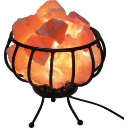 Соляная лампа Корзина Металлическая 2-3 кг с камнями из гималайской соли