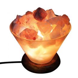 Соляная лампа Огненная Ваза 2-3 кг из стекла, с камнями из гималайской соли