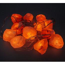 Соляная лампа Огненная Фантазия 3 кг, 15 камней из гималайской соли