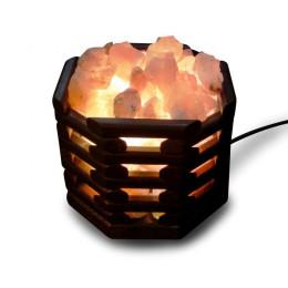 Соляная лампа Октагон Темный 3,5 кг с камнями из гималайской соли