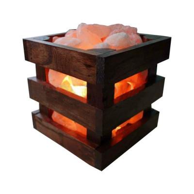 Cоляная лампа Wood 4 кг с камнями из гималайской соли