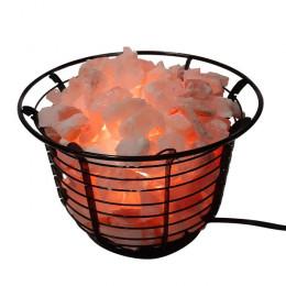 Соляная лампа Корзина Металлическая 3-4 кг с камнями из гималайской соли