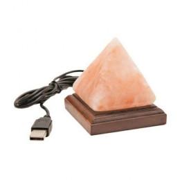 Соляная USB лампа Пирамида 0,4-0,7 кг из гималайской соли