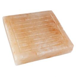 Соляная плитка для жарки с бордюром и канавками, 4х20x20 см, гималайская соль
