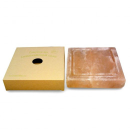 Соляная плитка для жарки с бордюром, 4,5х20x20 см, гималайская соль, картонная коробка