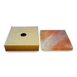 Соляная плитка для сервировки, 2,5x20x20 см, из гималайской соли, картонная коробка